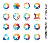 logo templates set. abstract... | Shutterstock .eps vector #243909160