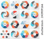vector circle arrows... | Shutterstock .eps vector #243909166