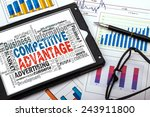 Small photo of competitive advantage word cloud with related tags