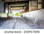 tunnel at the high line in... | Shutterstock . vector #243917698