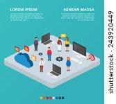 information technology concept  ... | Shutterstock .eps vector #243920449
