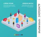 social network. vector... | Shutterstock .eps vector #243920479