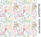 seamless pattern for valentine... | Shutterstock .eps vector #243920740