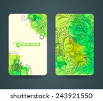 business cards template with... | Shutterstock .eps vector #243921550