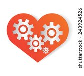 heart shape and gear vector. | Shutterstock .eps vector #243924526