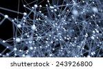 abstract network molecule... | Shutterstock . vector #243926800