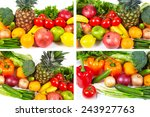 collection fruits and... | Shutterstock . vector #243927763