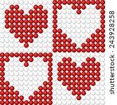 vector illustration  set of... | Shutterstock .eps vector #243928258