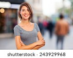 young cool woman | Shutterstock . vector #243929968
