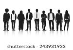 silhouettes group of people in... | Shutterstock .eps vector #243931933