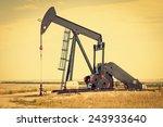 raised pump jack in south... | Shutterstock . vector #243933640
