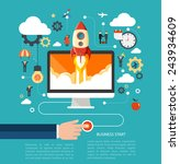 business start up concept with... | Shutterstock .eps vector #243934609