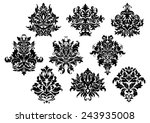 vintage floral elements and... | Shutterstock .eps vector #243935008