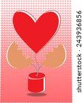 love tree valentines heart... | Shutterstock .eps vector #243936856