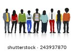 silhouettes of casual people in ... | Shutterstock .eps vector #243937870