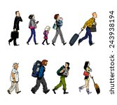 illustration with group of... | Shutterstock . vector #243938194