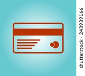 vector credit card icon. flat...
