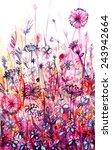 Meadow Of Pink Flowers ...