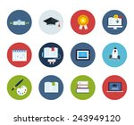 flat style education and... | Shutterstock .eps vector #243949120