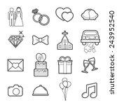 wedding icon | Shutterstock .eps vector #243952540