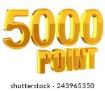 loyalty program 5000points | Shutterstock . vector #243965350