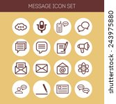 set of simple icons for chat ... | Shutterstock .eps vector #243975880