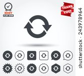 rotation icon. repeat symbol.... | Shutterstock .eps vector #243978964