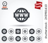 www sign icon world wide web