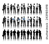 silhouette of business people... | Shutterstock .eps vector #243985498
