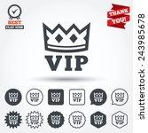 vip sign icon. membership... | Shutterstock .eps vector #243985678