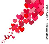 valentines day card with random ... | Shutterstock .eps vector #243992566