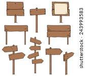 vector set of cartoon signposts | Shutterstock .eps vector #243993583