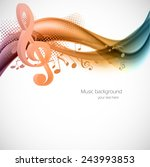 colorful wavy music background... | Shutterstock .eps vector #243993853