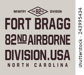 military airborne typography  t ... | Shutterstock .eps vector #243995434