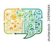 social network | Shutterstock .eps vector #243996664