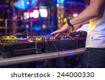 mixing console at the night club | Shutterstock . vector #244000330