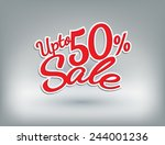 retail upto fifty persentage... | Shutterstock .eps vector #244001236