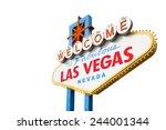 welcome to las vegas neon light ... | Shutterstock . vector #244001344