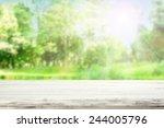 white desk of spring    Shutterstock . vector #244005796