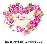 valentines day card  with ... | Shutterstock .eps vector #244006963