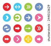 arrow icon set. vector... | Shutterstock .eps vector #244013629