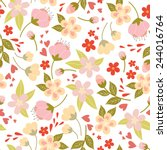cute floral pattern. vector... | Shutterstock .eps vector #244016764