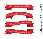 valentine's day ribbons | Shutterstock .eps vector #244017724
