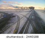 Winter Country Road With...