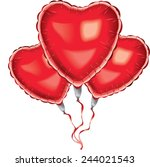 Red Helium Balloon Heart Shape...