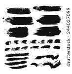 big set of grunge brush strokes.... | Shutterstock .eps vector #244027099