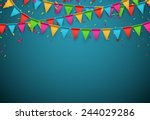 Celebrate Banner. Party Flags...