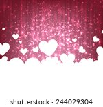 love greeting card with... | Shutterstock .eps vector #244029304