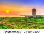 Doonagore Castle At Sunset  Co...
