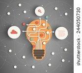 modern business concept   info... | Shutterstock .eps vector #244050730